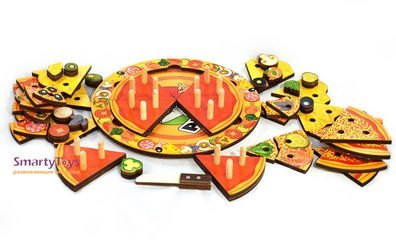 Деревянная развивающая игрушка Пицца (7918) фотография 5