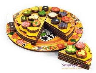 Деревянная развивающая игрушка Пицца (7918) фотография 7