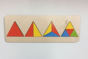 Фото Рамка-вкладыш деревяннаяГеометрия Треугольник (7939)
