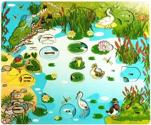 Фото Деревянная развивающая игра Обитатели пруда (7923)