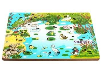 Деревянная развивающая игра Обитатели пруда (7923) фотография 2