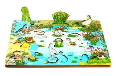 Деревянная развивающая игра Обитатели пруда (7923) фотография 3