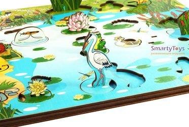Деревянная развивающая игра Обитатели пруда (7923) фотография 4