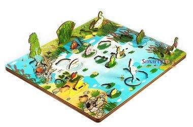 Деревянная развивающая игра Обитатели пруда (7923) фотография 5