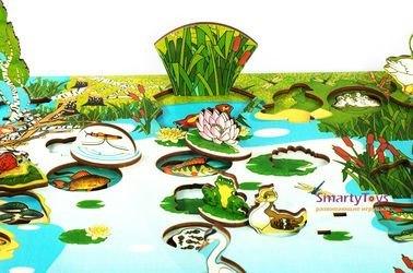 Деревянная развивающая игра Обитатели пруда (7923) фотография 7