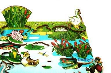 Деревянная развивающая игра Обитатели пруда (7923) фотография 8