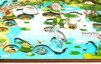 Деревянная развивающая игра Обитатели пруда (7923) фотография 10