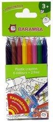 Фото Пластиковые карандаши 8 цветов + раскраска в блистере (В96208)