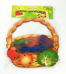 Шнуровка деревянная Корзина с овощами (7928) фотография 3