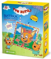Фото Витражный пластилин Три кота Карамелька (405111)
