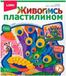 Фото Набор для творчества Живопись пластилином Павлин (Пк-041)