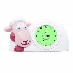 Фото Детские часы-будильник с ночником для тренировки сна Ягнёнок Сэм розовый