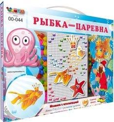 Фото Детская мозаика с аппликациями Рыбка-царевна (00-044)