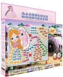 Фото Детская мозаика с аппликациями Маленькие принцессы (00-055)