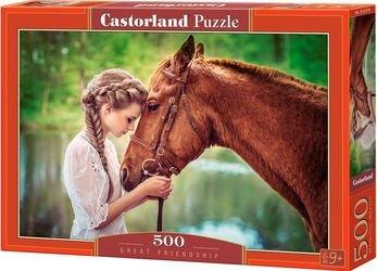 "Фото Пазл ""Девушка и лошадь"" 500 элементов (B-52516)"