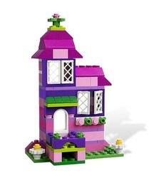 4625 Розовая коробка с кубиками Lego (конструктор Lego System) фотография 3