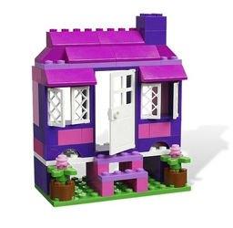 4625 Розовая коробка с кубиками Lego (конструктор Lego System) фотография 6