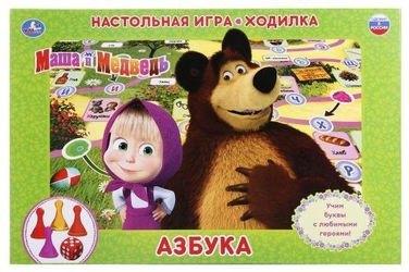 """Фото Настольная игра-ходилка Маша и Медведь """"Азбука"""""""