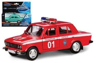 Фото Масштабная модель ВАЗ 2106 Пожарная 1:36 (11464)