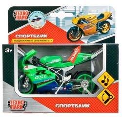 Металлическая модель Мотоцикл Суперспорт 11,5 см озвученная (244456) фотография 3