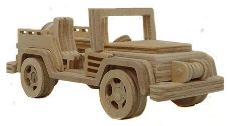 Фото Сборная деревяннаямодель Джип открытый (СДМ-06)
