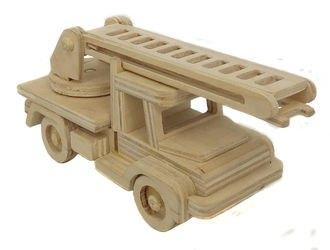 Фото Сборная деревяннаямодель Пожарная машина (СДМ-04)