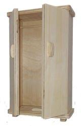 Фото Кукольная мебель Шкаф для одежды малый (МК-002)