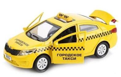 Масштабная модель KIA RIO (Киа Рио) Такси 12 см фотография 2