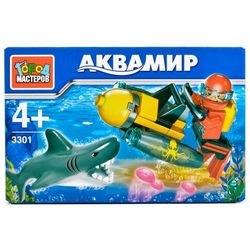 Фото Конструктор Аквамир: аквалангист с акулой (3301-R)