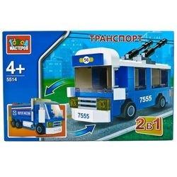 Фото Конструктор Транспорт 2-в-1 троллейбус, грузовик (5514-R)