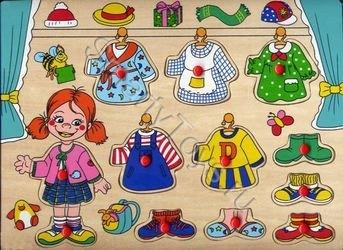 Кукла рамка-вкладыш (девочка) фотография 1