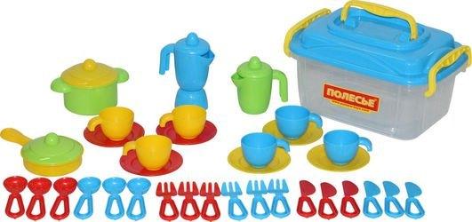Фото Набор игрушечной посуды на 6 персон (38 элементов) в контейнере (56597)