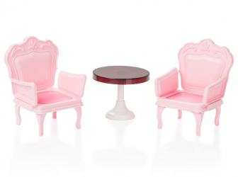 Фото Кукольная мебель Кресла со столиком Зефир (С-1394)