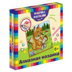 Фото Алмазная мозаика для детей За грибами 15х15 см (940-48555)