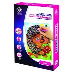 Фото Алмазная мозаика для детей Ёжик 10х15 см (940-59709)