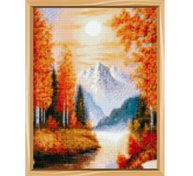 Фото Алмазная мозаика полная выкладка Осенний пейзаж 30х40 см 31 цвет (A0229)