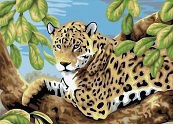Фото Картина по номерам Леопард 40х50 см (GX6046)