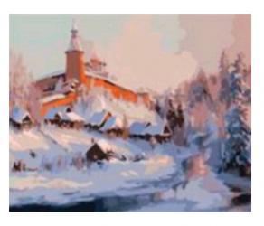 Фото Картина по номерам Зимний пейзаж 40х50 см (GX6565)