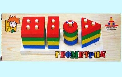 Развивающая деревянная игрушка Геометрик фотография 1