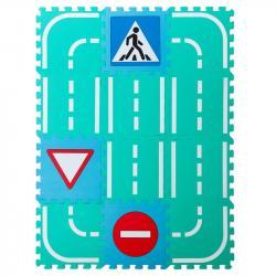Фото Мягкий коврик-пазл Автодорога со знаками (MDP-30212S)