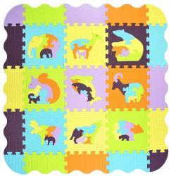 Фото Мягкий коврик-пазл Мозаика с животными (MТP-33209B)
