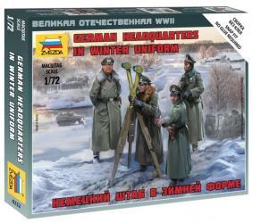 Фото Сборная модель Немецкий штаб в зимней форме (6232)