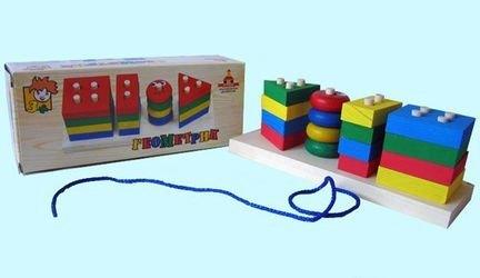 Развивающая деревянная игрушка Геометрик фотография 2
