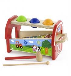 Фото Деревянная игрушка 2 в 1 Стучалка   ксилофон (50348)