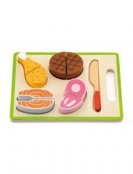 Фото Набор деревянных продуктов для резкиРежем ужин (50980)