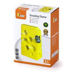 Фото Шнуровка деревянная сыр в коробке (56281)