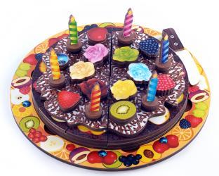 Фото Деревянная развивающая игрушка Торт