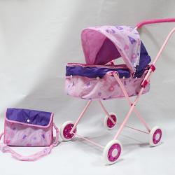 Фото Коляска люлька для кукол с сумкой (46068)