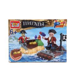 Фото Конструктор Пираты плот с фигурками (2513-R)