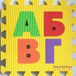 Мягкий коврик-пазл с буквами Русский Алфавит (MТP-30333) фотография 4